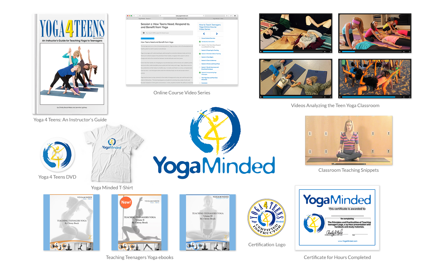 Yoga 4 Teens Teacher Training Package, A Video Course, Instructor's Guide, and More for Teen Yoga Certification