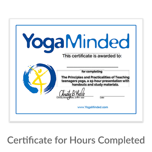 Certificate for Hours Completed